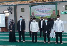 Pelantikan DPW ADPISI Kalteng di Masjid Shalahuddin UPR, Sabtu